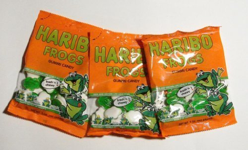 Haribo Gummy Frogs-10ct-Individually 5oz Wrapped Gummy Candy by Hairbo of America, Inc.