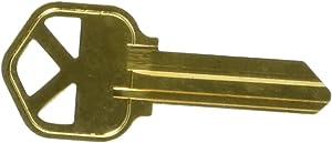 Kaba Ilco KW1-BR-250PK Blank Kwikset Key (250 Pack)