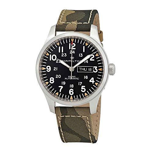 (Hamilton Khaki Field Automatic Black Dial Men's Watch H70535031)