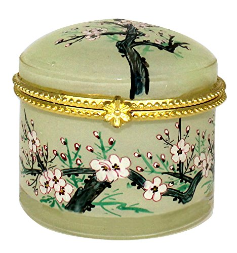 Blossom Jewelry Case - Pink Blossoms Hand Painted Jewelry Box - JB-563