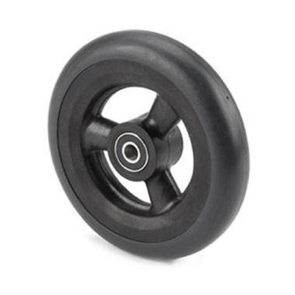 Pair of Lightweight 5'' X 1'', 3-spoke Black, Black Urethane Caster Tires for Powerchair Wheelchair