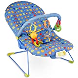 Costzon Baby Rocker Chair, Adjustable Reclining Chair with Music/Vibration Box/Toys, Baby Bouncer (Sunflower)