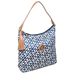 Tommy Hilfiger Women Jacquard Tassel Hobo Bag