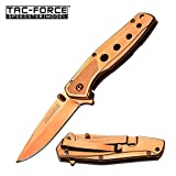 Tac Force Rose Gold Blade Tactical Rescue Outdoor Collector's pocket Spring Assisted Small Folding Knife