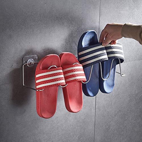 CHLCH Zapatillas de baño de Acero Inoxidable Perchero baño ...