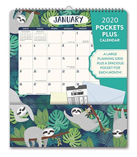 - Orange Circle Studio 2020 Pockets Plus Wall Calendar, Jungle Life