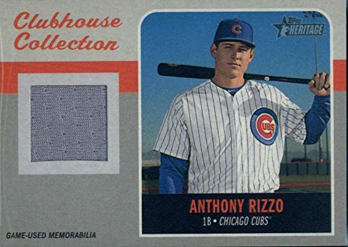 2019 Topps Heritage Clubhouse Collection Relics #CCR-AR Anthony Rizzo MEM Cubs Baseball MLB from Heritage Products