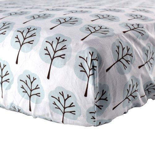 Luvable Friends Woven Crib Sheet, Blue Tree, Baby & Kids Zone