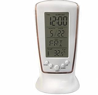 DDPP Mini Sveglia Luminosa A LED Timepiece Musica Sveglia Muto Calendario Elettronico Pigro Regalo Creativo Calendario E Temperatura Display Luminoso,