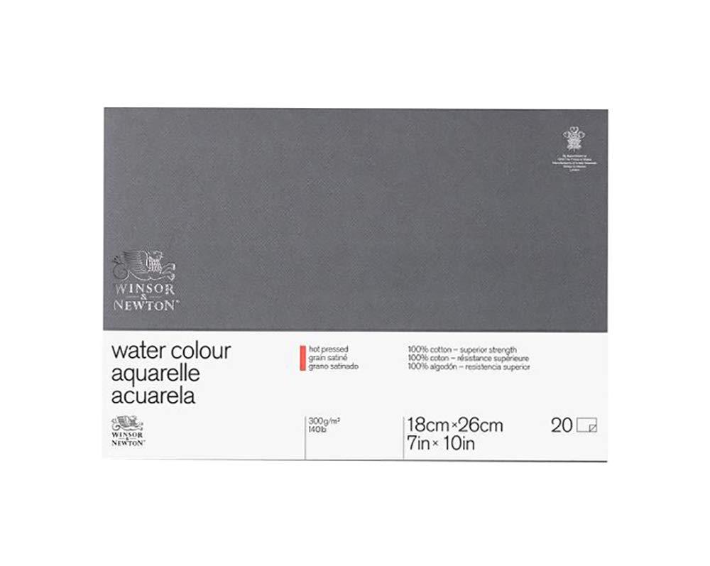 Winsor&Newton - Blocco Grana Satinata - 17.8 X 25.4Cm - Incollato 4 Lati - 20 Fogli - 300G Colart 6663266