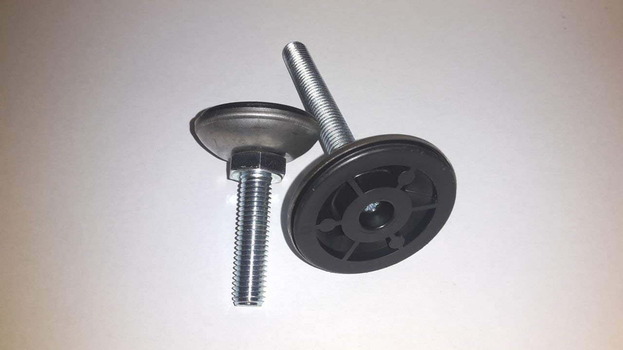 ronde avec capuchon en acier inoxydable 2 R/églage en hauteur//Pied r/églable//Vis de nivellement du sol
