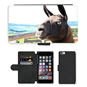 "PU LEATHER case coque housse smartphone Flip bag Cover protection // M00134284 Cara Lama Lama Cabeza Cabeza de // Apple iPhone 6 PLUS 5.5"""