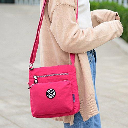 Outreo Designer Messenger Bag Schultertasche Wasserdicht Kuriertasche Mode Umhängetasche Damen Taschen Leichter Kleine Reisetasche für Mädchen Schwarz