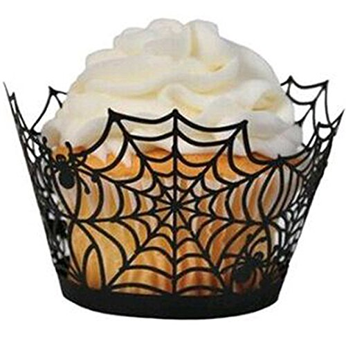 Halloween Cupcake Wrappers, JOYJULY Filigree Artistic Muffin Case