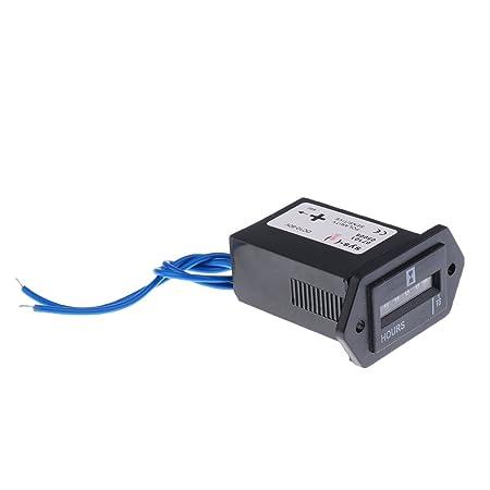 Amazon.com: 10-80V DC / AC Quartz Hour Meter Gauge for Car Boat Truck Engine: Automotive