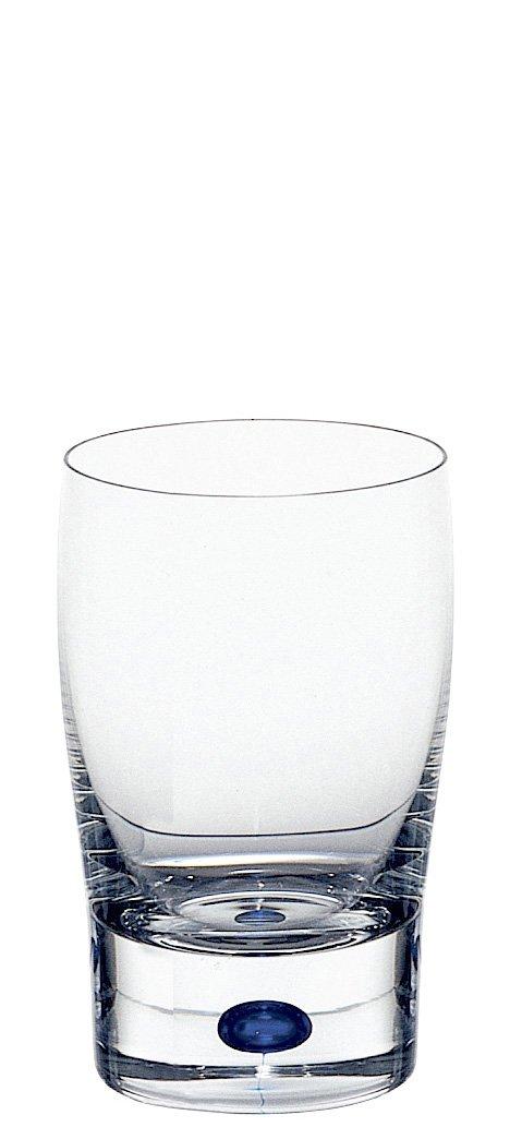 Orrefors Intermezzo Blue Small Tumbler//Juice Glass Clear