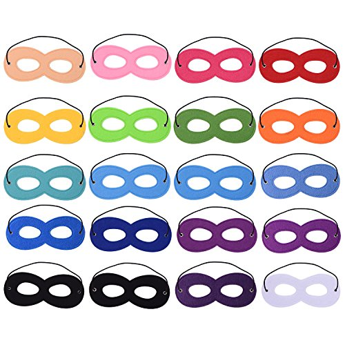 Superhero Mask White Eyes