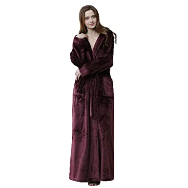 Para mujer Suave lujo 300 GSM Fleece Con capucha Traje de cuerpo entero Albornoz de felpa