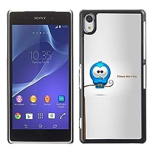 Be Good Phone Accessory // Dura Cáscara cubierta Protectora Caso Carcasa Funda de Protección para Sony Xperia Z2 D6502 D6503 D6543 L50t L50u // Cry Tears Sweet Quote Love Cartoon Ca