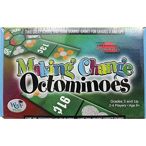 (Learning Advantage, Mental Math Board Game, Making Change Octominoes, Coin Values, Grade 2 to 7)