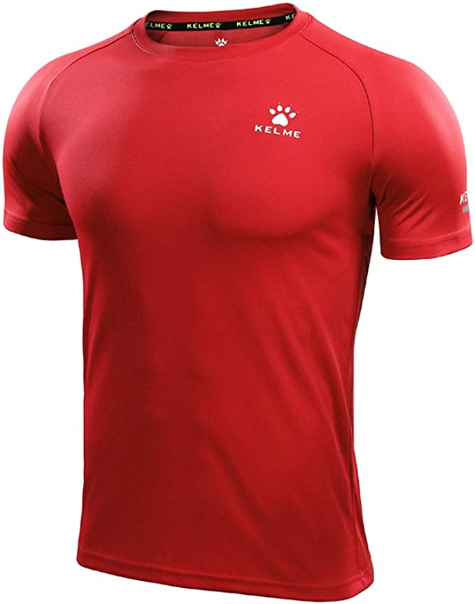 Mens Dri-fit Short Sleeve Camo Compression Workouts Shirts Red