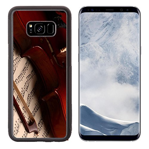 g Galaxy S8 Plus Aluminum Backplate Bumper Snap Case Violin and sheet music close up Photo 13850856 Simple Snap Carrying (Free Sheet Choir)