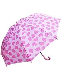 RainStoppers W104CHPIHRT Girl's Heart Print Umbrella, 34-Inch