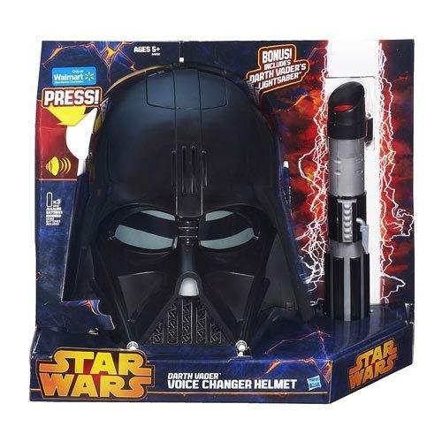 Darth Vader Voice Changer Mask (Star Wars Darth Vader Voice Changer Helmet with Lightsaber)