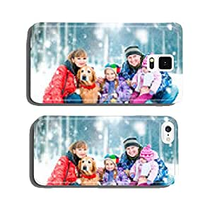 lovely family in winter park cell phone cover case Samsung S5