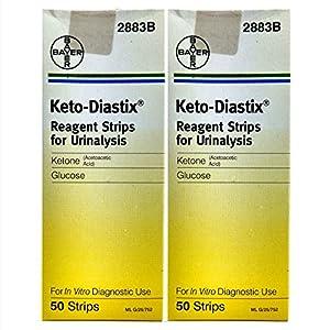 Bayer Keto-Diastix Reagent Strips for Urinaly...