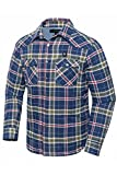 Pau1Hami1ton PJ-02 Men's Heated Jacket Heated Jackets for Men(M, Blue)