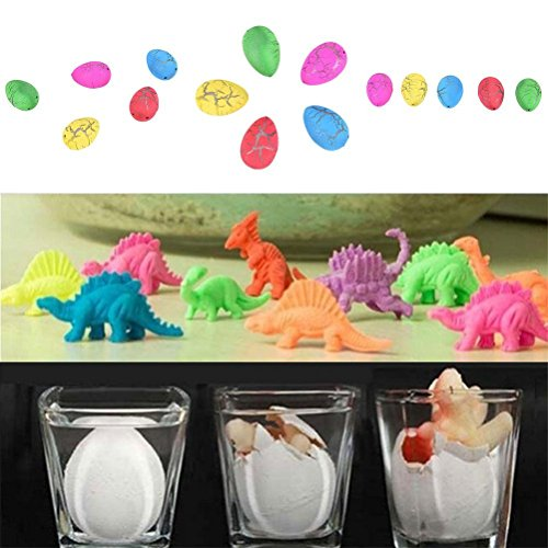 WWahuayuan 30 Pcs Hatch and Grow Dinosaur Eggs Novelty Magic Large Size Crack Easter Dinosaur Eggs Hatching Toy for Kids Expansion Growing in Water by