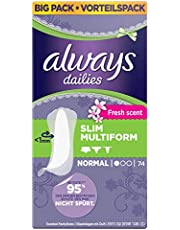 Always Slim Multiform Slipeinlagen Fresh, 74 Stück
