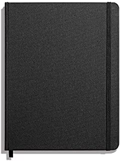 product image for Shinola Journal, HardLinen, Plain, Jet Black (7x9)