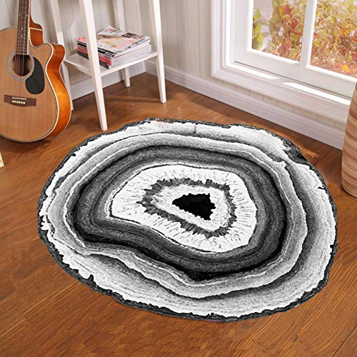 Round Carpet - Creative Tree Pier Print Round Carpet Mat Bedroom Bedside Living Room Coffee Table Hanging Basket Computer Chair Anti-Slip Mat, 100100CM (Basket Pier Chairs One)