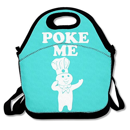 Doughboy Poke Me Mint Green Lunch Bags Insulated Travel Picnic Lunch Box Tote Handbag With Shoulder Strap For Women Teens Girls Kids Adults
