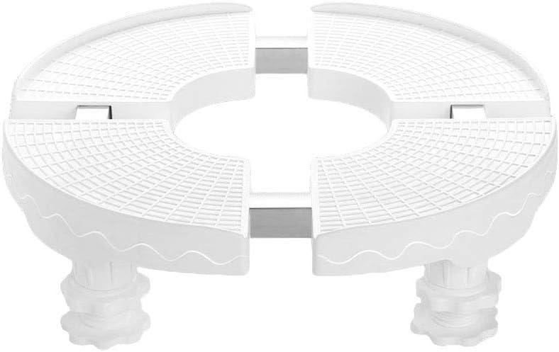 GEBIN Base Ajustable, Pedestales para Lavadora, Base Redonda para Acondicionador De Aire, Base Redonda para Refrigerador Y Secadora, Maceta Cilíndrica,Soporte para Tanque De Peces. (Blanco)