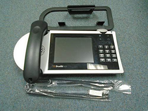 Shoretel Shorephone Model IP 655 VOIP Display Telephone Handset & Stand BLK #B