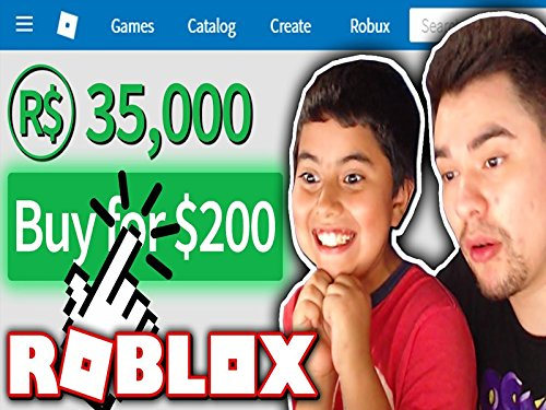 Clip: Giving My Little Brother 35,000 Robux! 200 Dollars Plus Worth!