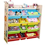 Wooden Book Storage Rack Toy Boxes and Storage Unit - Natural Wood (Color : Natural Wood, Size : 102 * 28.5 * 100cm)