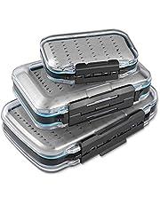 Magreel Fly Fishing Box tvåsidig vattentät lätt flugbox lätt grepp transparent lock flugfiske bete låda flera storlekar