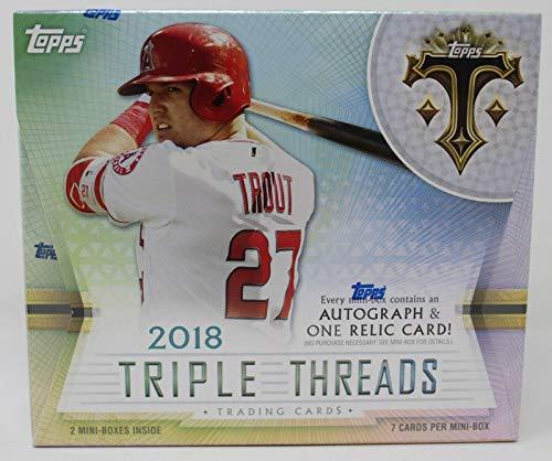 (2018 Topps Triple Threads Factory Sealed Hobby Box 2 Hits/mini-box - Baseball Wax Packs)