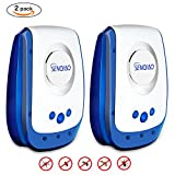 SENQIAO Electronic Pest Repller,Ultrasonic Pest Repellent, Repellent for Bugs,Cockroach, Mosquitos, Fleas,Ants, Spiders, Mouse,Mice and More (2)