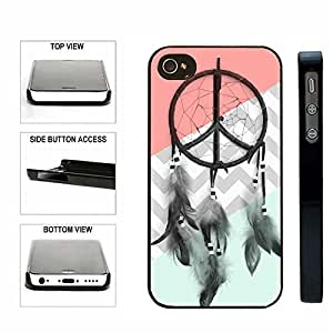 CorpCase SlimFit Snap On Case iPhone 4 4S Case - Dreamcatcher Mint Coral Grey Chevron - For Teens Girls Women Fits All Carriers iPhone 4 iPhone 4S