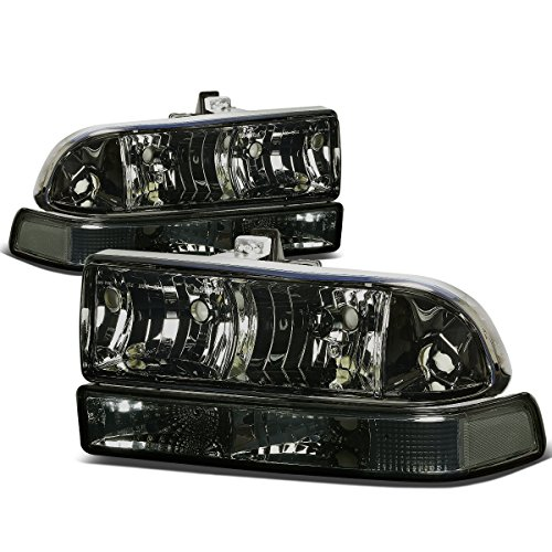 For Chevy S10/Blazer GMT 325/330 4Pcs Smoked Lens Clear Corner Headlight