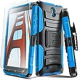 ZTE ZMAX 2 Case, Evocel [Generation Series] Belt Clip Holster, Kickstand, HD Screen Protector, Dual Layer for ZTE ZMAX 2 (Z958 / 2015 Release), Blue (EVO-ZTEZ958-AB202)