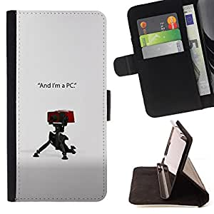 KingStore / Leather Etui en cuir / LG OPTIMUS L90 / Soy un PC