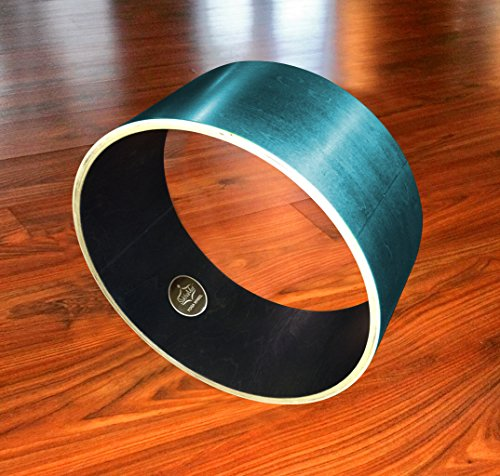 SukhaMat Yoga Wheel • Hand Crafted All Wood Yoga Wheel • Extra Wide (6.75 Inches) And Stable • Helps Deepen Yoga Postures • Enhances Challenging Yoga Poses
