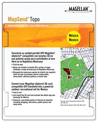 Amazon.com: Magellan Mapsend Topo Mexico Map microSD Card
