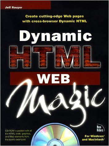 Dynamic HTML Web Magic: Amazon co uk: Jeff Rouyer: 9781568304212: Books